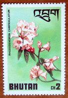 1976 BHUTAN   Rododendri Fiori Flowers Rhododendron Campanulatum - Nuovo - Bhutan