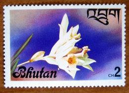 1976 BHUTAN  Fiori Flowers Orchidea Thunia Alba - Nuovo - Bhutan