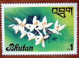 1976 BHUTAN  Fiori Flowers Orchidea Coelogyne Nitida - Nuovo - Bhutan