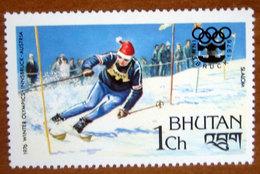 1976 BHUTAN   Winter Olympic Games  Innsbruck Austria Sport Sci Slalom - Nuovo - Bhutan