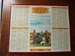 Almanach Des P.T.T. - 1966 - Retour De Chasse - Calendriers