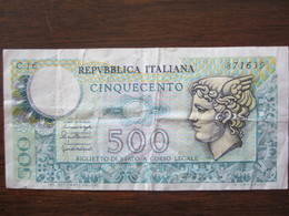 500 LIRES - [ 2] 1946-… : Repubblica