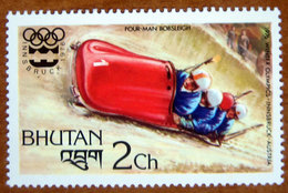 1976 BHUTAN   Winter Olympic Games  Innsbruck Austria Sport 4 Men Bobsleigh - Nuovo - Bhutan