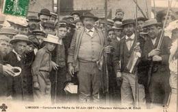 LIMOGES CONCOURS DE PECHE DU 30 JUIN 1907 L'HEUREUX VAINQUEUR M. CIBOT - Limoges