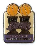 BASKET AMERICAIN - B16 - 1987-1988 LOS ANGELES - LAKERS -  Verso : SM - Basketball