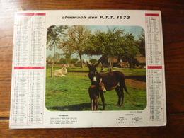 Almanach Des P.T.T. - 1973 - Les Nouveaux Jouets - Anes Au Pré - Calendriers