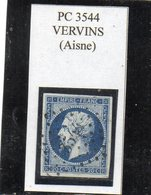 Aisne - N°14A Obl PC 3544 Vervins - 1853-1860 Napoléon III