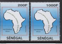 Sénégal 2016 Mi. ? Joint Issue Emission Commune Africa Shop Hub Philatélique 2 Val. ** - Senegal (1960-...)
