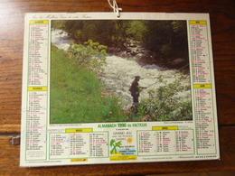 Almanach Des P.T.T. - 1990 - Pêche En Eaux Vives (Vallorcine 74) - La Chasse - Calendriers