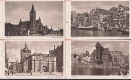 Danzig 10 Ansichten Aus Heft, Dabei Hauptbahnhof, Speicherinsel, Langgasse RathausSt. Marien, Unbeschrieben - Danzig