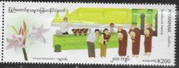 MYANMAR, 2019, MNH, FESTIVALS, FLOWERS, SAYEDENMÉ, 1v - Andere