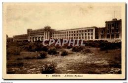 CPA Brest L Ecole Navale Militaria - Brest