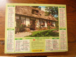 Almanach Du Facteur. - 1995 - Chaumière Fleurie - Entente Cordiale - Calendriers