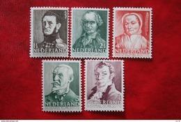 Zomerzegels Social Welfare Summer Sommer NVPH 392-396 (Mi 392-396) 1941 POSTFRIS / MNH / ** NEDERLAND / NIEDERLANDE - 1891-1948 (Wilhelmine)