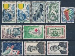 DI-515: COMORES: Lot Avec  Obl N°12(2)-13-15-16-26-27-28-32-77/78 - Comores (1950-1975)