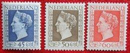 Koningin Wilhelmina Zegels NVPH 487-489 (Mi 500-502) 1947 1948 Postfris / MNH / ** NEDERLAND / NIEDERLANDE - 1891-1948 (Wilhelmine)