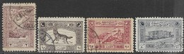 Turkey  1922  Sc#81, 83-5 Used  2016 Scott Value $18.25 - 1920-21 Anatolië