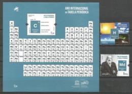 Portugal   2019 , Ano Internacional Da Tabela Periodica / Mendelevio - Block / Sheet + Satz - Postfrisch / MNH / (**) - 1910-... Republik
