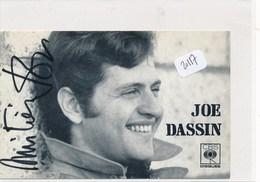 Carton Autographe - 20117 - Célébrités -Joe Dassin ( 2scans Date Lieu Autographe) -Envoi Gratuit - Autres Collections