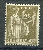 RC 15949 FRANCE COTE 215€ N° 287 PAIX 1F25 OLIVE NEUF ** MNH TB - Frankreich