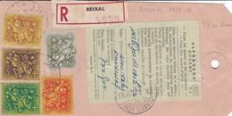 Etiquette Recommandé  ( Douane ) T.P. Ob Seixal 9 8 70, Etiquette Pour Marseille 6 - Marcophilie