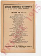 Publicité Presse 1915 Compagnie Internationale Des Wagons-Lits Tisane Abbé Denys Vin Debreyne Suraliment Brun 226CH30 - Non Classés