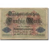 Billet, Allemagne, 50 Mark, 1914, 1914-08-05, KM:49b, TB - 50 Mark