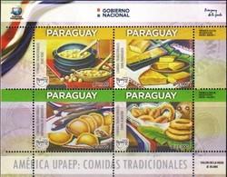 Paraguay 2019 ** MP UPAEP Comidas Tradicionales: Vorí Vorí, Sopa Paraguaya, Empanada De Mandioca, Chipa Almidón - Paraguay