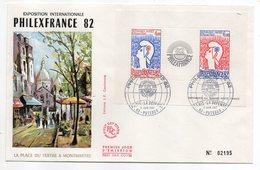 1982--FDC Numéroté 02195--  Philexfrance 82  --Bloc Cocteau--cachet 11/6--cote 34€....Montmartre.......à Saisir - FDC