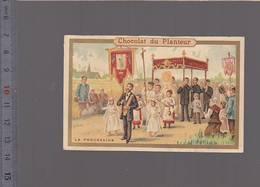 Chromo Fin XIXè / Religion La Procession /chocolat Du Planteur - Chromos