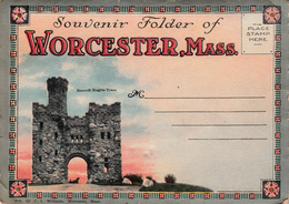 Vintage 1918 (?) - Worcester Massachusetts Mass. - Souvenir Folder With 18 Views - Unused - Worcester