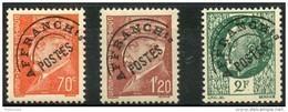France Préos (1945) N 84 à 86 ** (Luxe) - 1893-1947