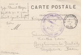 CP Avec Cachet DEPOT Des PRISONNIERS Dde GUERRE - St RAMBERT S/LOIRE (Loire) Obl ST RAMBERT C/LOIRE Du 20.1.16 - Postmark Collection (Covers)