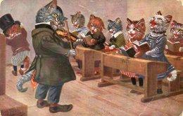 Chats, Cats, Katzen, Misgiu, Gatos, Macskàk, Gatti, Katten, Katter, Koty, Kediler. Arthur Thiele. - Cats