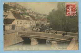BA0370  CPA  DREUX (Eure-et-Loir)  Pont Louis-Philippe - Attelage Cheval  +++ - Dreux