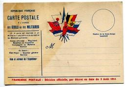 Carte République Française Franchise Postale 10/04/1915 - War 1914-18