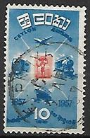CEYLAN   -   1957 .  Camion / Avion / Train / Bateau.  Oblitéré. - Sri Lanka (Ceylon) (1948-...)