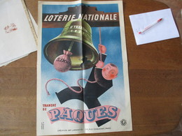 LOTERIE NATIONALE 5E. TRANCHE 1939 TRANCHE DE PACQUES DEROUET LESACQ 39  60cm/40cm - Affiches