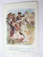 Chromo BON POINT Scolaire Didactique_Campagne En Egypte, Les Pyamides_NAPOLEON BONAPARTE (Juillet 1798)_attribué En 1931 - Vecchi Documenti