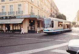 GRENOBLE - ISÈRE - (38)  - 6 PHOTOS ORIGINALES + 1 CPSM DU TRAMWAY. - Grenoble