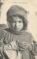 CARTE POSTALE ORIGINALE ANCIENNE : JEUNE ENFANT MENDIANTE MAURESQUE DE TUNISIE - Tunisia