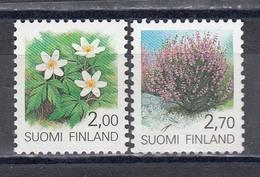 Finland 1990 - Flowers, Mi-Nr. 1100/01, MNH** - Finland