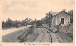 36 - Valençay - La Gare De L'Ermitage Animée - Arrivée Du Train - Attelages - Autres Communes