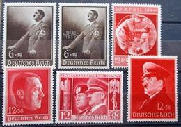 DR Hitler Sondermarken Mi.Nr. 664,694,701,744,763,972 Postfrisch ** M€ 87,-- - Deutschland