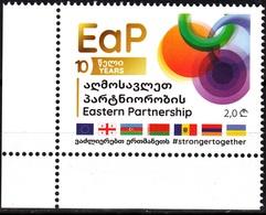 GEORGIA 2020-03 EUROPA: EU Eastern Partnership Initiative - 10. Flags. CORNER, MNH - Idee Europee