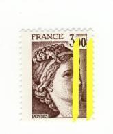 Sabine 3fr Brun YT 1979 Avec 2 Bandes De Phosphore à Droite . Superbe , Voir Le Scan . Cote Maury N° 1979e : 12 € . - Variétés Et Curiosités