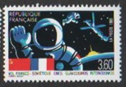 France Neuf Sans Charnière 1989,Communication Espace Vol Franco-soviétique Spationaute YT 2571 - Francia