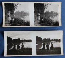 2 Photographie Stéréoscopique Originale 1924 Strasbourg Forêt De Fuchs Am Buckel - Photos Stéréoscopiques