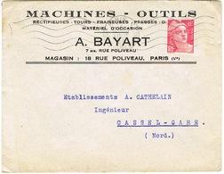 ENVELOPPE  A EN-TETE MACHINES-OUTILS BAYART PARIS - 1921-1960: Periodo Moderno