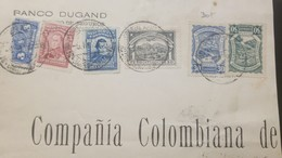 O) 1925 CIRCA COLOMBIA, PACKAGE, SCADTA PLANE OVER BOGOTA CATHEDRAL SC 32 1p, SCADTA SEAPLANE OVER MAGDALENA RIVER SC C4 - Colombia